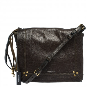 Jerome Dreyfuss Dark Brown Leather Igor Shoulder Bag