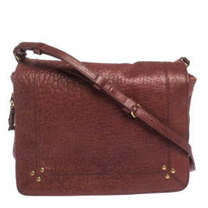 Jerome Dreyfuss Burgundy Leather Igor Shoulder Bag