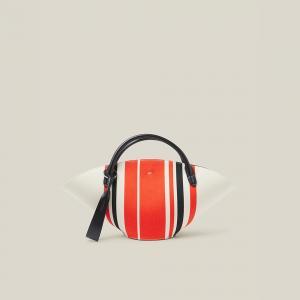 Jil Sander Multicoloured Sombrero Striped Woven Cotton Bag One Size