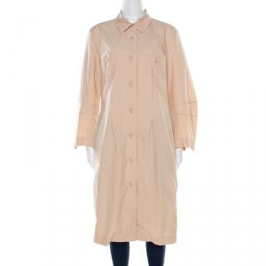 Jil Sander Beige Cotton Coat Style Dress XL - used