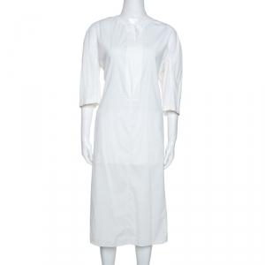 Jil Sander Off White Stretch Midi Dress L - used