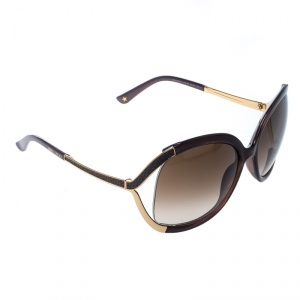 Jimmy Choo Brown/Brown Gradient Beatrix Oversize Sunglasses