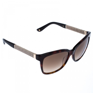 Jimmy Choo Brown Tortoise Gradient Cora Square Sunglasses