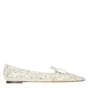 Jimmy Choo Glitter Gala Ballerina Flats Size IT 36