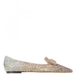 Jimmy Choo Glitter Gala Ballerina Flats Size IT 36.5