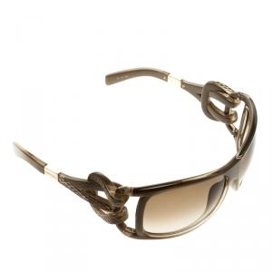 Jimmy Choo Brown JJ Snake Embossed Rectangle Sunglasses