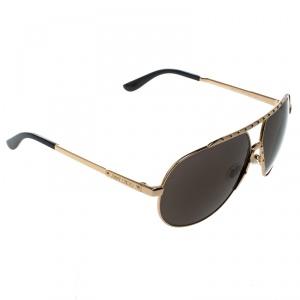 Jimmy Choo Gold/Black Benny Aviator Sunglasses