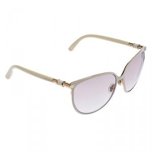 Jimmy Choo Off White Juliet Oversize Sunglasses