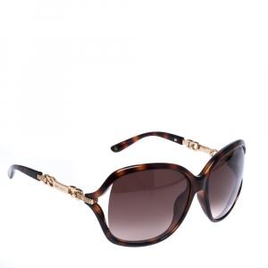 Jimmy Choo Brown Tortoise Gradient Oversize Sunglasses