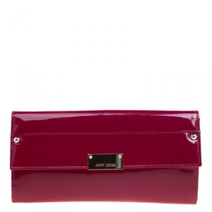 Jimmy Choo Burgundy Patent Leather Reese Clutch