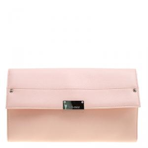 Jimmy Choo Pink Leather Reese Clutch