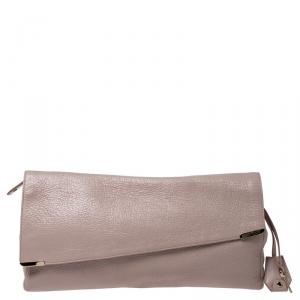 Jimmy Choo Nude Patent Leather Flap Clutch