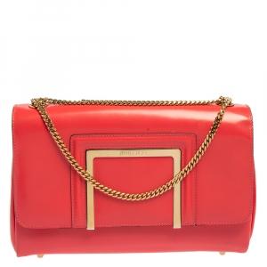 Jimmy Choo Fuchsia Patent Leather Alba Shoulder Bag