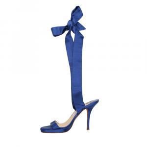 Jimmy Choo Blue Satin Sandals Size EU 38