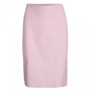 John Galliano Dull Pink Cotton Pencil Skirt L