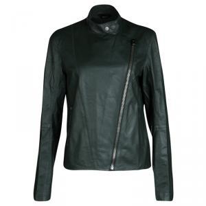 Joseph Forest Green Lambskin Nappa Leather New Alpha Jacket L