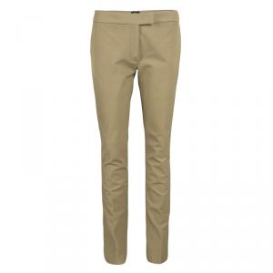 Joseph Almond Brown Stretch Gabardine Finley Regular Fit Trousers M