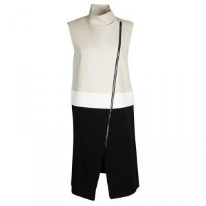 Joseph Tricolor Zip Detail Preston Sleeveless Long Coat M