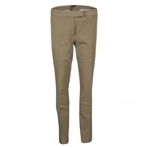 Joseph Almond Brown Stretch Gabardine Finley Regular Fit Trousers L