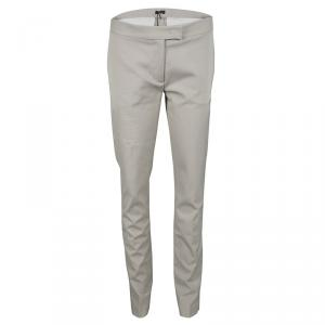 Joseph Almond Beige New Cotton Compact Finley Regular Fit Trousers M