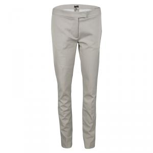 Joseph Almond Beige New Cotton Compact Finley Regular Fit Trousers L