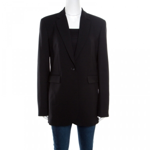 Joseph Black Stretch Wool Laurent Blazer L