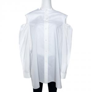 Joseph White Cotton Chintz Cold Shoulder Ripley Shirt L