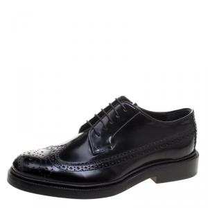 Joseph Black Brogue Leather Dennis Lace Up Derby Size 36