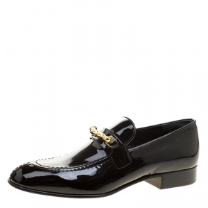 Joseph Black Patent Leather Loafers Size 37.5