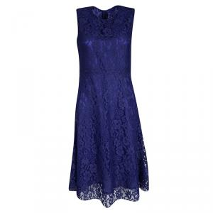 Joseph Cobalt Blue Doll Lace Sleeveless Dress M