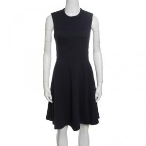 Joseph Navy Blue Wool Jersey Paneled Sleeveless Milano Dora Dress S - used