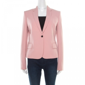 Joseph Blush Pink Stretch Crepe Jazz Blazer M