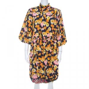 Joseph Field Owen Floral Silk Dress S - used