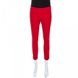 Joseph Red Stretch Gabardine New Queen Fit Cropped Pants S