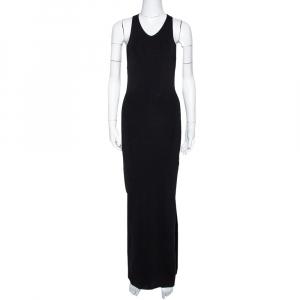 Joseph Black Rib Knit Open Back Fitted Dress S - used