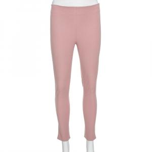 Joseph Light Pink Stretch Gabardine New Tony Cropped Trousers S