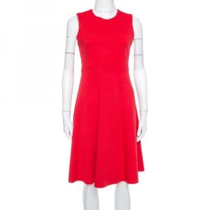 Joseph Red Knit Paneled Sleeveless Milano Dora Dress M - used