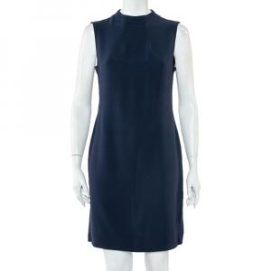 Joseph Navy Blue Fluide Crepe Sleeveless Sammy Dress L - used