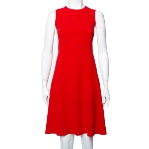 Joseph Red Crepe Paneled Skater Dress S used
