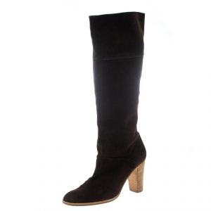 Joseph Brown Suede Knee High Boots Size 39