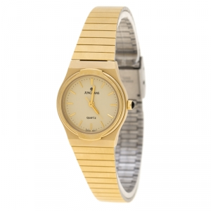 Junghans Yellow Gold Plated Steel EWJ-1004L Women's Wristwatch 22 mm