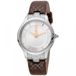 Just Cavalli Silver Stainless Steel Animal JC1L004L0025 Women's Wristwatch 34MM