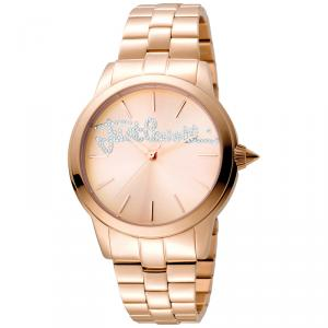 Just Cavalli Rose Gold Plated Stainless Steel Logo JC1L006M0105 Women's Wristwatch 36MM