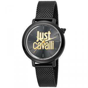 Just Cavalli Black Ion Plated Stainless Steel Logo JC1L007M0085 Women's Wristwatch 34MM