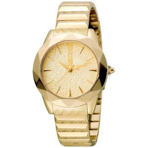 Just Cavalli Champagne Gold Plated Stainless Steel Rock JC1L003M0075 Women's Wristwatch 35MM