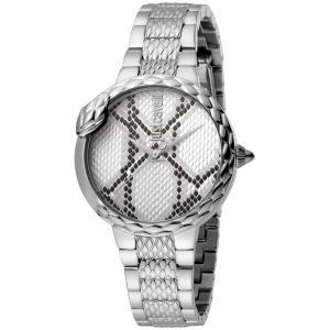 Just Cavalli Silver Stainless Steel JC1L030M0055 Women's Wristwatch 34MM