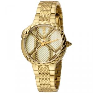 Just Cavalli Champagne Gold Plated Stainless Steel JC1L030M0065 Women's Wristwatch 34MM
