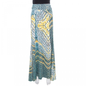 Just Cavalli Multicolor Animal Printed Draped Back Detail Maxi Skirt M