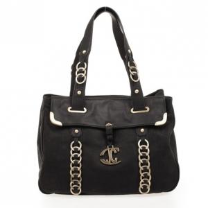 Just Cavalli Black Medium Leather Bag
