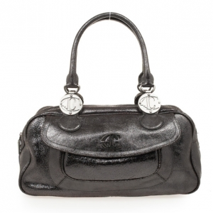 Just Cavalli Grey Medium Leather Bag